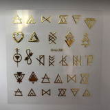 Gold Aztec Stickers - Luxury Beauty