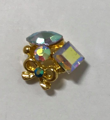 Multi Gem Bow Charm - Luxury Beauty