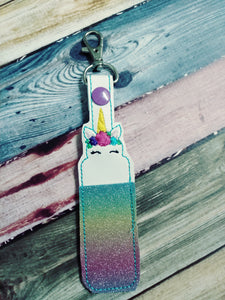 Unicorn Lip Balm Holder - party favor - key fob