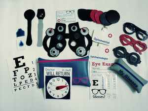 Eye doctor play set - eye doctor toy - kids pretend toy