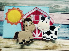 Felt Farm Play Set - farm animals - educational toy