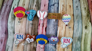 Nurses week gift - RN Heart  Stethescope  Badge Reel - Retractable Badge Reel -  gift for nurse - registered nurse  - RN - name badge holder