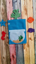 Toddler quiet book page - Build Your Own Felt Quiet Book - fish bowl - aquarium - busy book page - Activity book page - fish bowl - learning