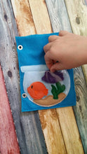 Build Your Own Felt Quiet Book..  Page by Page...Fish Bowl Activity Page.. Fish, Coral, Starfish, and Sea Horse Included