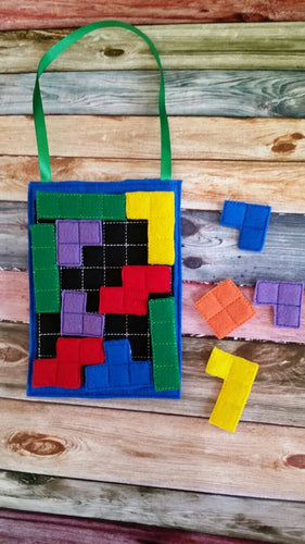 Build Your Own Block Puzzle Board Quiet Activity Bag - Quiet Book Page - Fun Activity Bag - Learning - Educational - busy bag - classroom