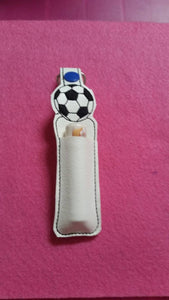 Soccer Ball lip balm Holder....Great Non food Birthday Favor... Lip Balm Keychain...Great Size to store Flashdrive, small marker or Lip Balm