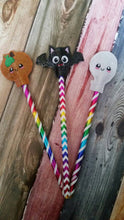 Halloween Pencil Toppers - Pumpkin - Ghost - Bats - Allergy Classroom - treat bag - Non Food Treat - Goody Bags -  Pencil Included