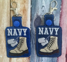 Vinyl Navy Key Ring - Military Support - Anchors Away - Dog Tags - Boots - Key Fob - Proud Sailor - Keychain - Branch of Military