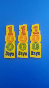 100 Days Celebration Felt Bookmark - party favor - classroom favor - Celebrate 100 Days of School - Non Food Treat - Allergy Class Treat