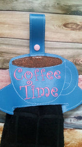 Personalized - Coffee Cup Towel Topper - Home Decor  - kitchen decoration - House warming gift - wedding gift - kitchen towel