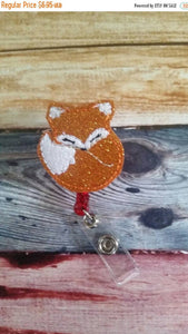 Fox Badge Reel - Retractable ID Badge Holder - name badge holder