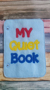 Toddler quiet book  - quiet book pages - personalized quiet book