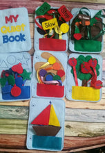 Toddler quiet book- quiet book pages - felt vegetable garden- pocket - coordination  - Build your own quiet book - busy book - activity book