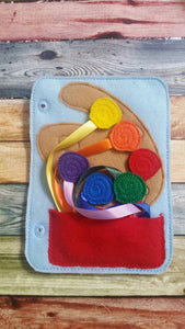 Toddler quiet book- quiet book pages - Paint Palette - color match - learn colors - Build your own quiet book - busy book - activity book