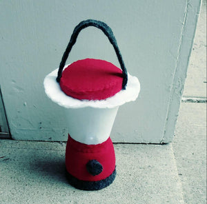 Felt Lantern - light up lantern -photography prop - felt camping toy - kids camping - play campfire - felt fire - pretend play- felt food
