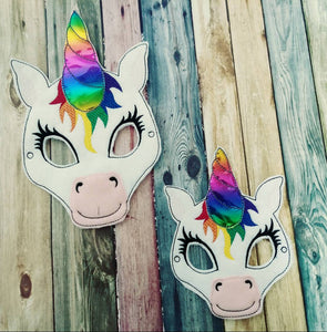 Felt Unicorn Mask - Rainbow Unicorn- magical