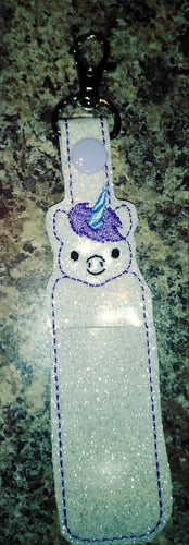 Unicorn - lip balm holder - party favor - gift for her - flash drive holder - stocking stuffer - magical - fantasy - birthday party - tween