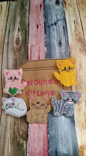 Cat Finger Puppets - cat toy - kitten finger puppet -personalized - Storage Bag  -  Quiet Toy - Busy Bag - Activity Bag - custom colors