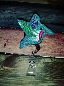 Hummingbird Badge Reel - Retractable ID Badge Holder - name badge holder - badge clip - cute badge reel - animal badge reel - retractable