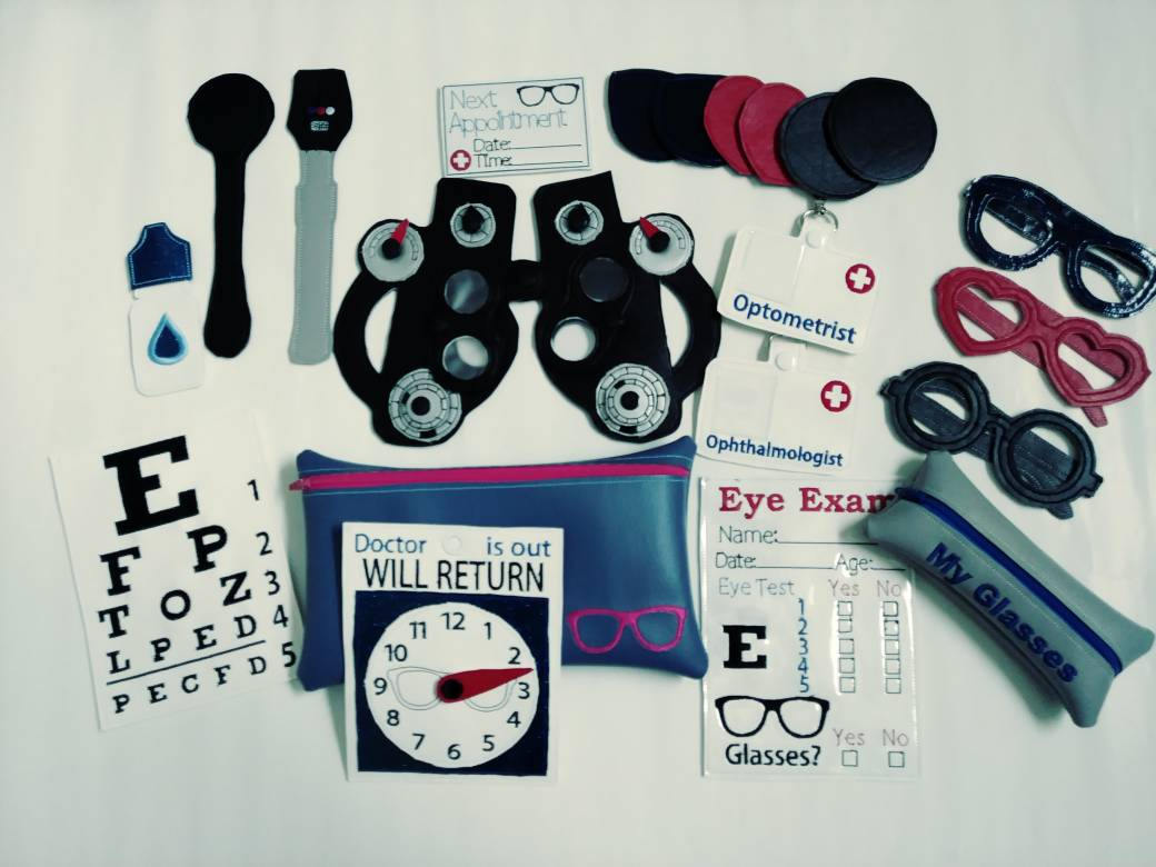 Eye Doctor Toy Set, Play Doctor Kit, Optometrist Toy Set, Pretend Play Doctor, Pretend Play Set, Fun Gifts for Kids, Educational Toys