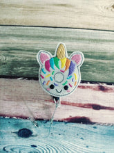 Unicorn Badge Reel - Retractable ID Badge Holder - name badge holder - retractable reel - cute badge reel - animal badge reel - badge clip