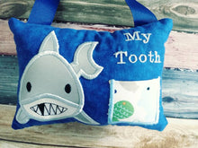 Shark Tooth Fairy Pillow for Boys, Personalized Tooth Fairy Pillow, Tooth Fairy Gift, Hanging Tooth Fairy Pillow,  Custom Tooth Fairy Pillow