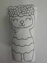 Llama plushie toy - washable coloring doll - color again and again - party favor - coloring toy - easter basket stuffer - alpaca