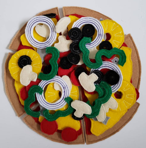 Felt Food Pizza - pretend play  Pizza Restaurant play set - felt food - pretend play - build your own