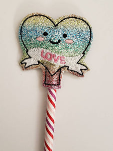 Valentines day gift - Pencil Toppers - class party favor - Heart - Valentines day Party Favor - gift for kids - Non Food Treat