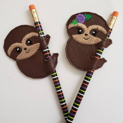 Sloth Pencil Toppers - Birthday party favor - pencil slider - Allergy Classroom - treat bag - Non Food Treat - Goody Bags -  Pencil Included