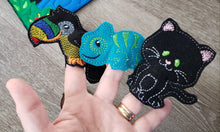 Felt finger puppet animal - Rainforest Animal quiet book page -  Gift for kids - habitat - Party Favor - learning toy - animals and biomes