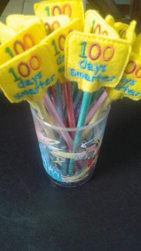 100 Days of School Classroom Party Favor - 100th day of school teacher gift - Pencil Toppers - 100 Days Celebration - Non Food Treat