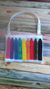 Felt Crayon Color Match Activity Bag - color match - learning toy - busy  bag - activity bag - quiet toy - educational - School - classroom