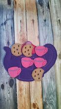 Felt tac toe game - tea party - Tic Tac Toe - tea pot game -  Classic Game -  Quiet Toy - Birthday Party Favors - cookie - tea cup