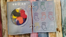 Color matching Quiet book page  - Color Sock Match - laundry - color sorting busy book page - counting game - educational - learning toy