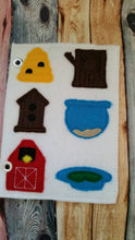 Toddler quiet book page - Felt Quiet Book Page - busy book -  Animal home match game -  Homes Activity Page - learning - education - Habitat