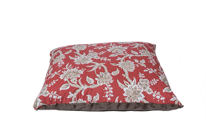 Poppy Red Luxury designer dog bed