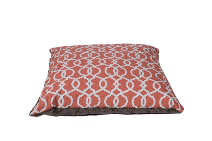 Coral Trellis Luxury designer dog bed