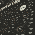 Taxonomy Of Car Model Names - Infographic Art Print