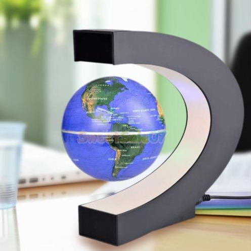 World Map Light Decor Floating Globe 3 Colors Life Design