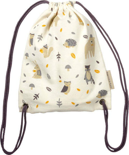 Woodland Critter Drawstring Mini Backpack