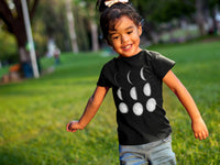 Kids Shirt, Moon Phase T Shirt, Crecent and Full Moon Tshirt, Astronomy Tee, Astrology, Youth & Toddler