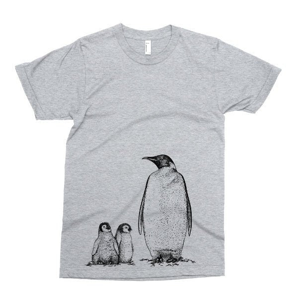 Kids Shirt, Cute Penguin Tshirt, Family Of Penguins T Shirt, Arctic Animal Tee, Bird, Youth & Toddler