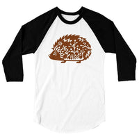 Whimsical Hedgehog One Piece or T Shirt, Forest Animal Tshirt, Cute Woodland Critter Hedgie Baseball Tee, 3/4 Sleeve Raglan, Adult Kids Baby