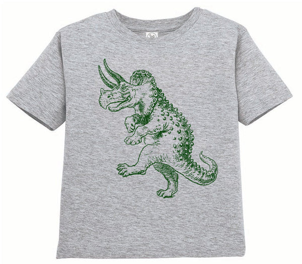 Kids Shirt, Dancing Triceratops Tshirt, Dinosaur T Shirt, Funny Tee, Youth & Toddler