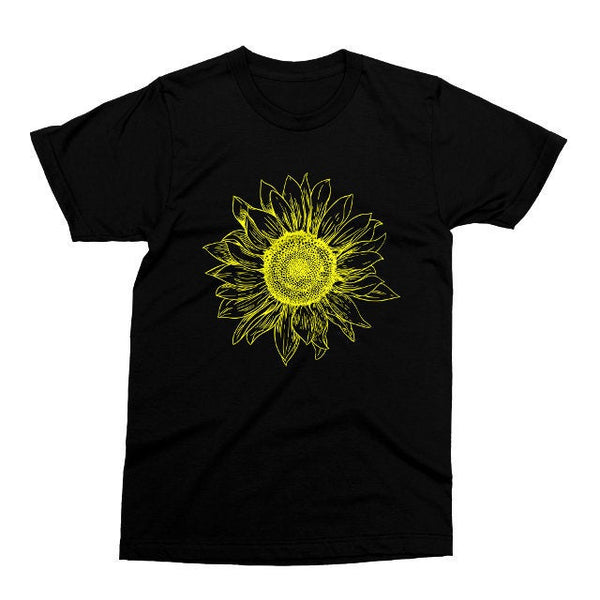 Sunflower T Shirt, Printed on Soft Ringspun Cotton, Floral Tshirt, Summer Tee, Gardener Gift, Mens Womens