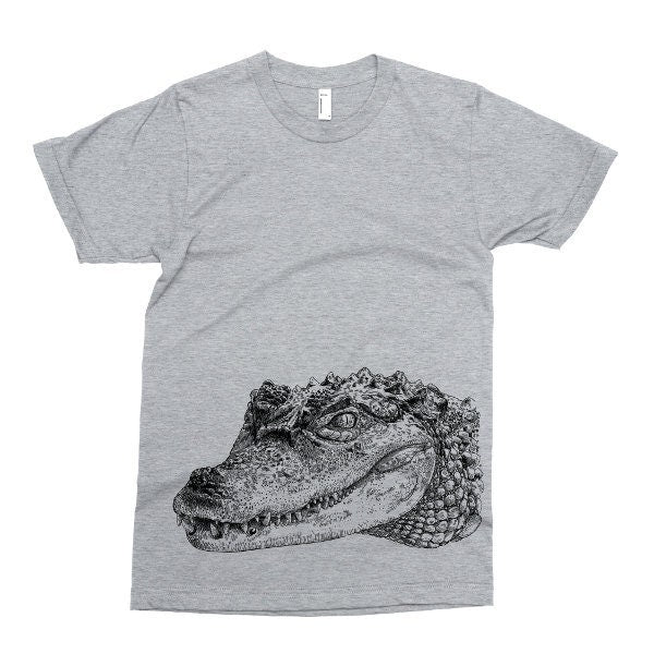Crocodile T Shirt, Printed on Soft Ringspun Cotton, Reptile Tshirt, Animal Tee, Alligator Mens Womens Kids Baby