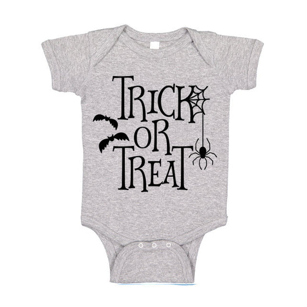 Trick Or Treat One Piece Tshirt, Halloween T Shirt, Funny Halloween Tee, Baby Bodysuit, Kids