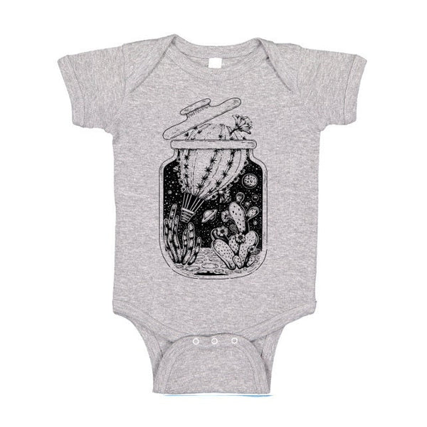 Bottled Cactus Hot Air Balloon One Piece or Tee, Baby Bodysuit, Desert Tshirt, Travel T Shirt, Wanderlust Tee, Kids