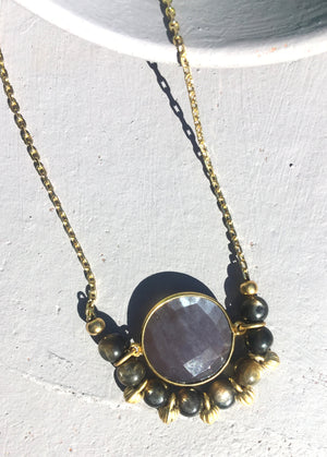 Winter Mini Moon Necklace